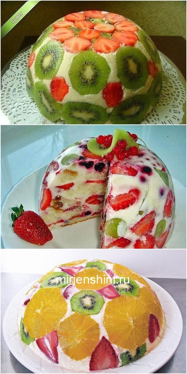 «ФРУКТОВЫЙ ТОРТ » — десерт, который не навредит фигуре!