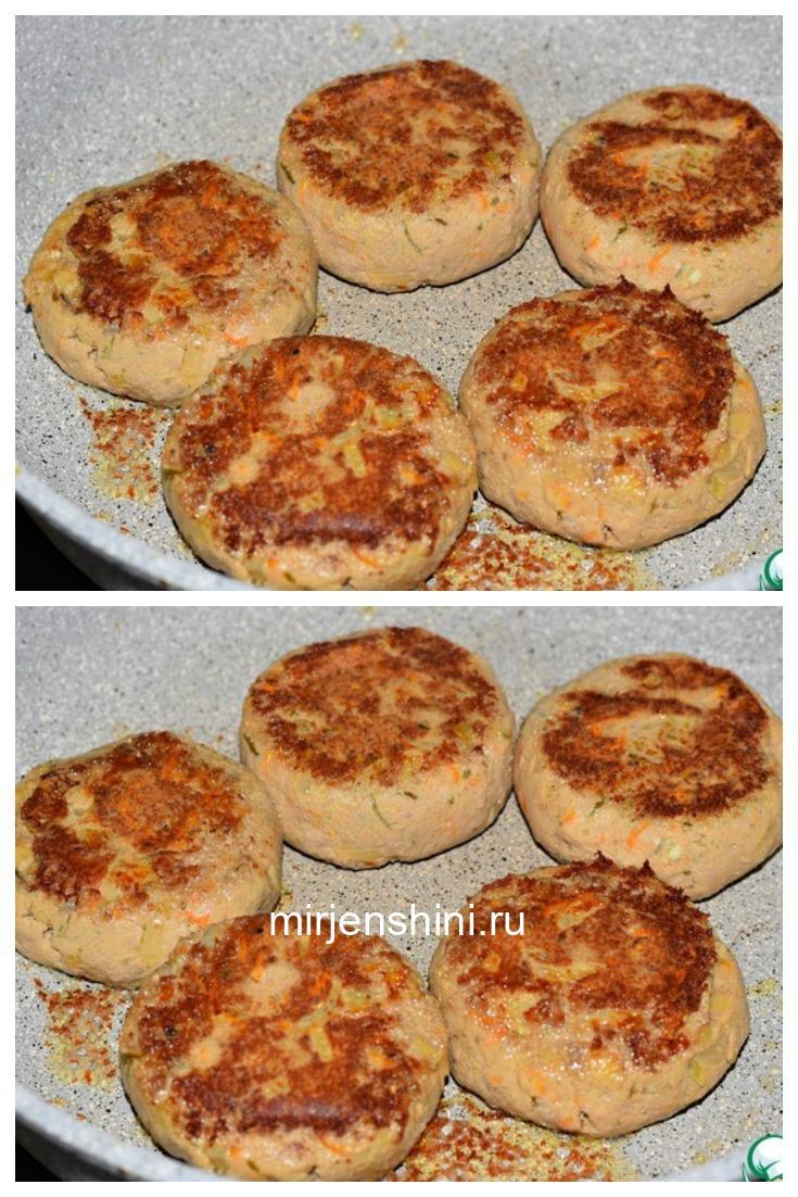 Биточки из картофеля и куриной печени