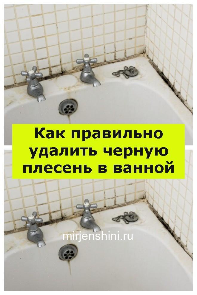 Как правильно удалить черную плесень в ванной