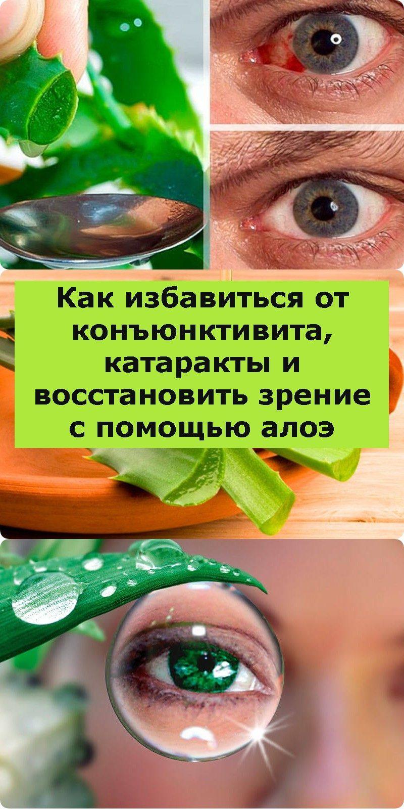 Как избавиться от конъюнктивита, катаракты и восстановить зрение с помощью алоэ