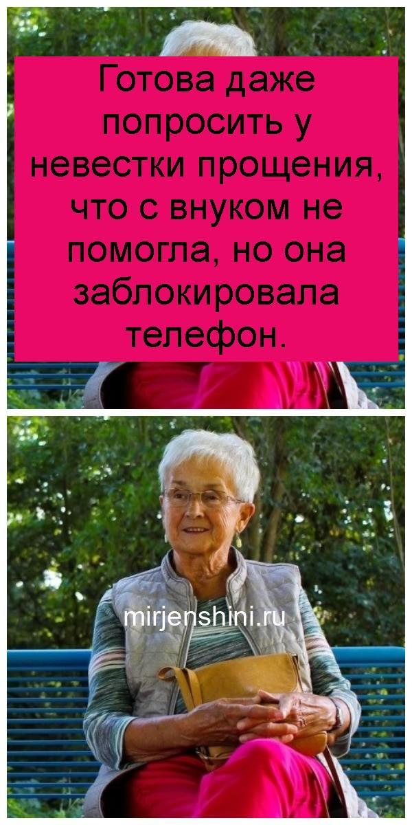 Готова даже попросить у невестки прощения, что с внуком не помогла, но она заблокировала телефон 4