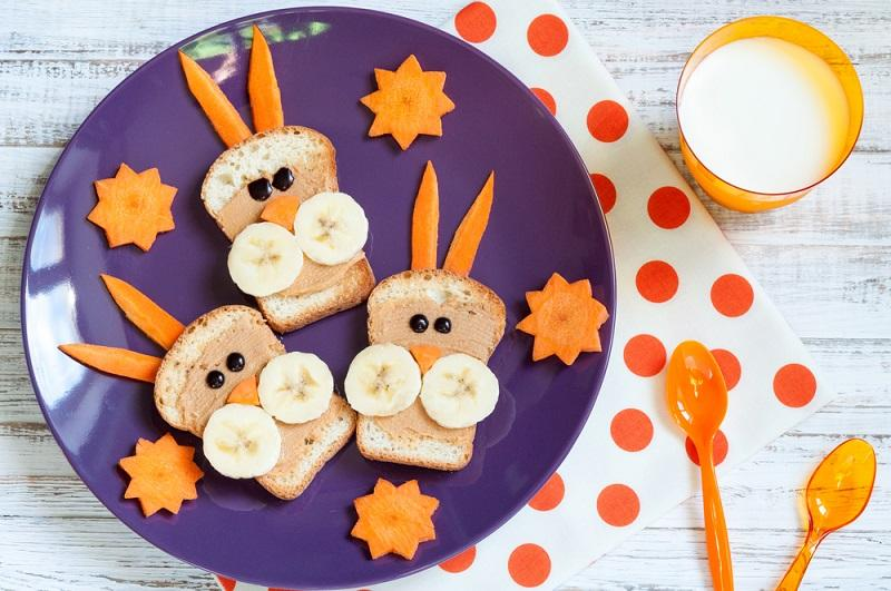 breakfast-for-children-with-sandwiches-and-milk-funny-rabbit-fa