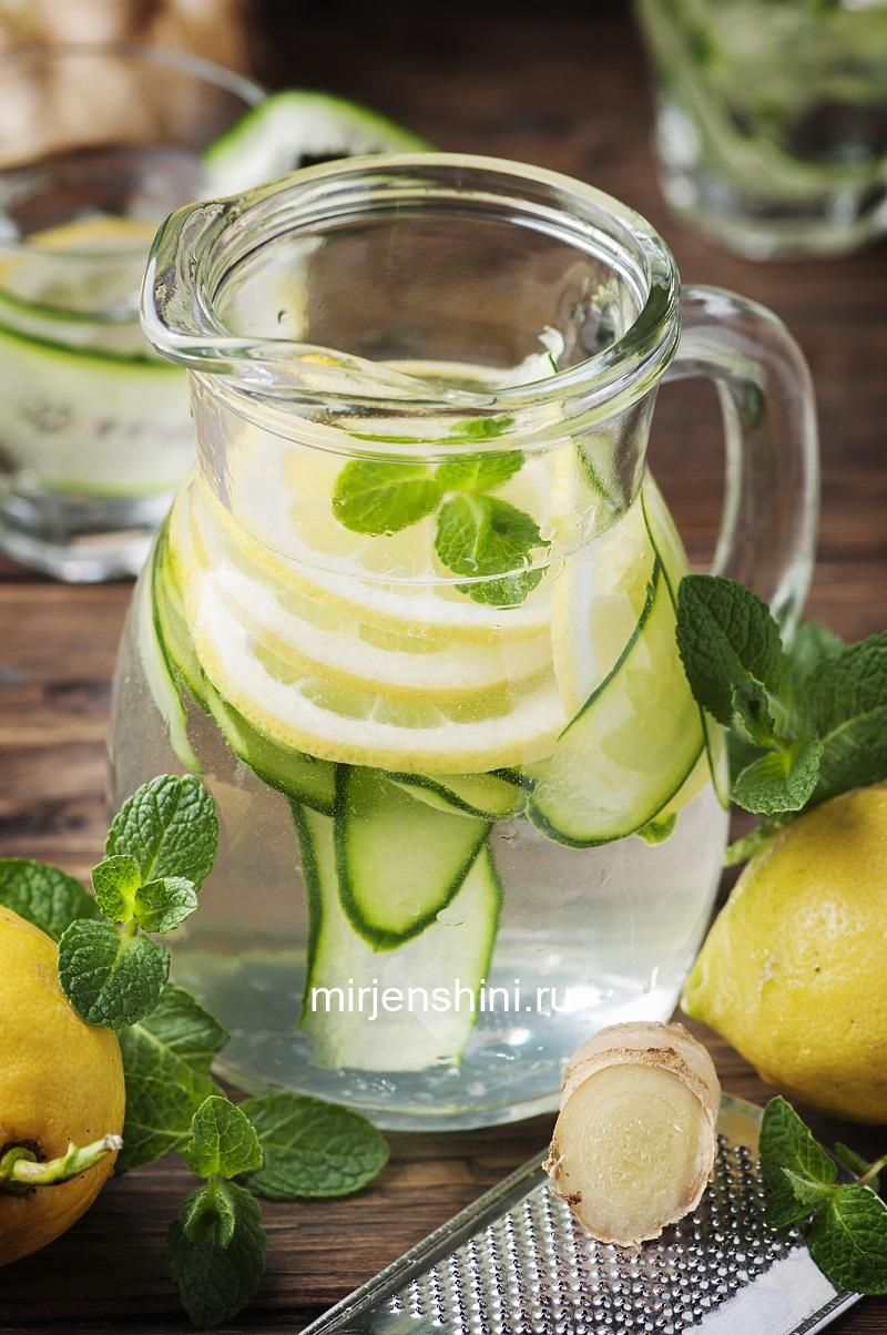 healthy-cocktail-with-lemon-cucmber-and-ginger